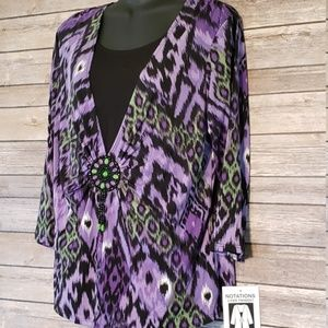 New Notations Blouse Large